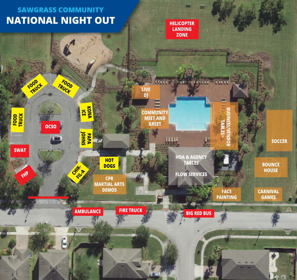 Activities Map – Sawgr National Night Out on